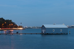 Blue boat shed, Perth