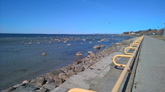 Rocky beach of the Tallinn