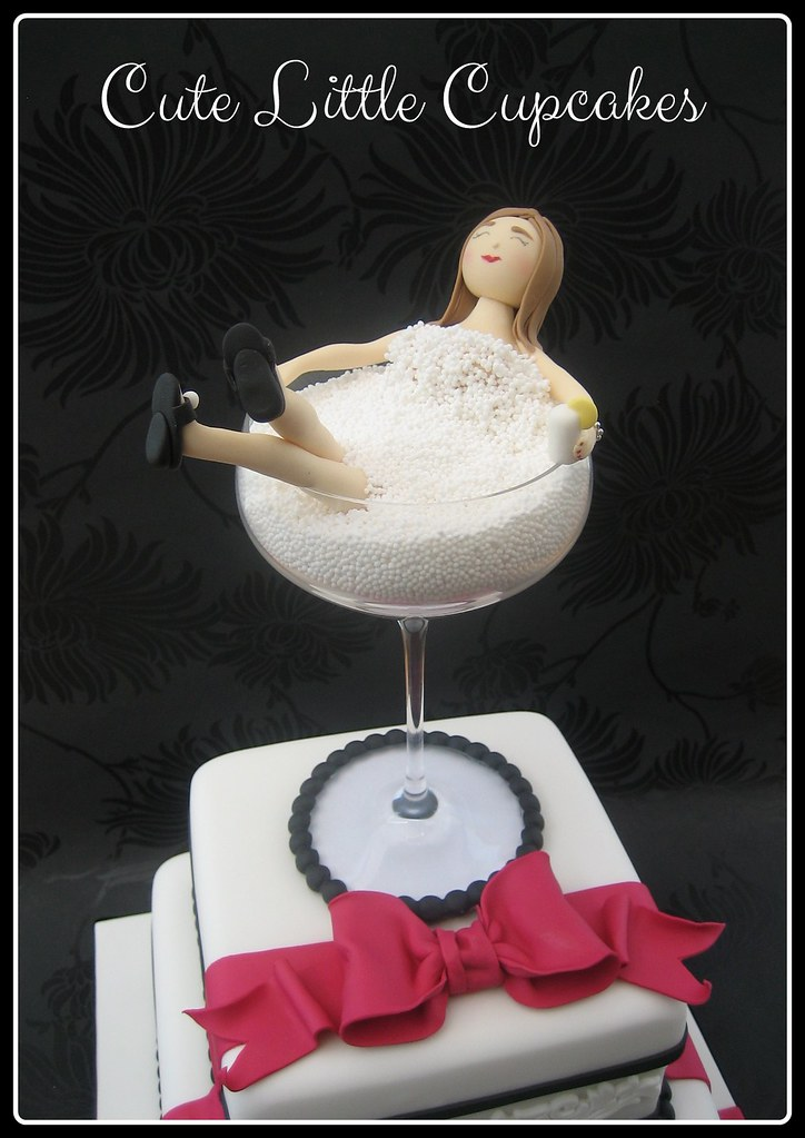Strange Cocktail Glass 50Th Birthday Cake Heidi Stone Flickr Funny Birthday Cards Online Alyptdamsfinfo