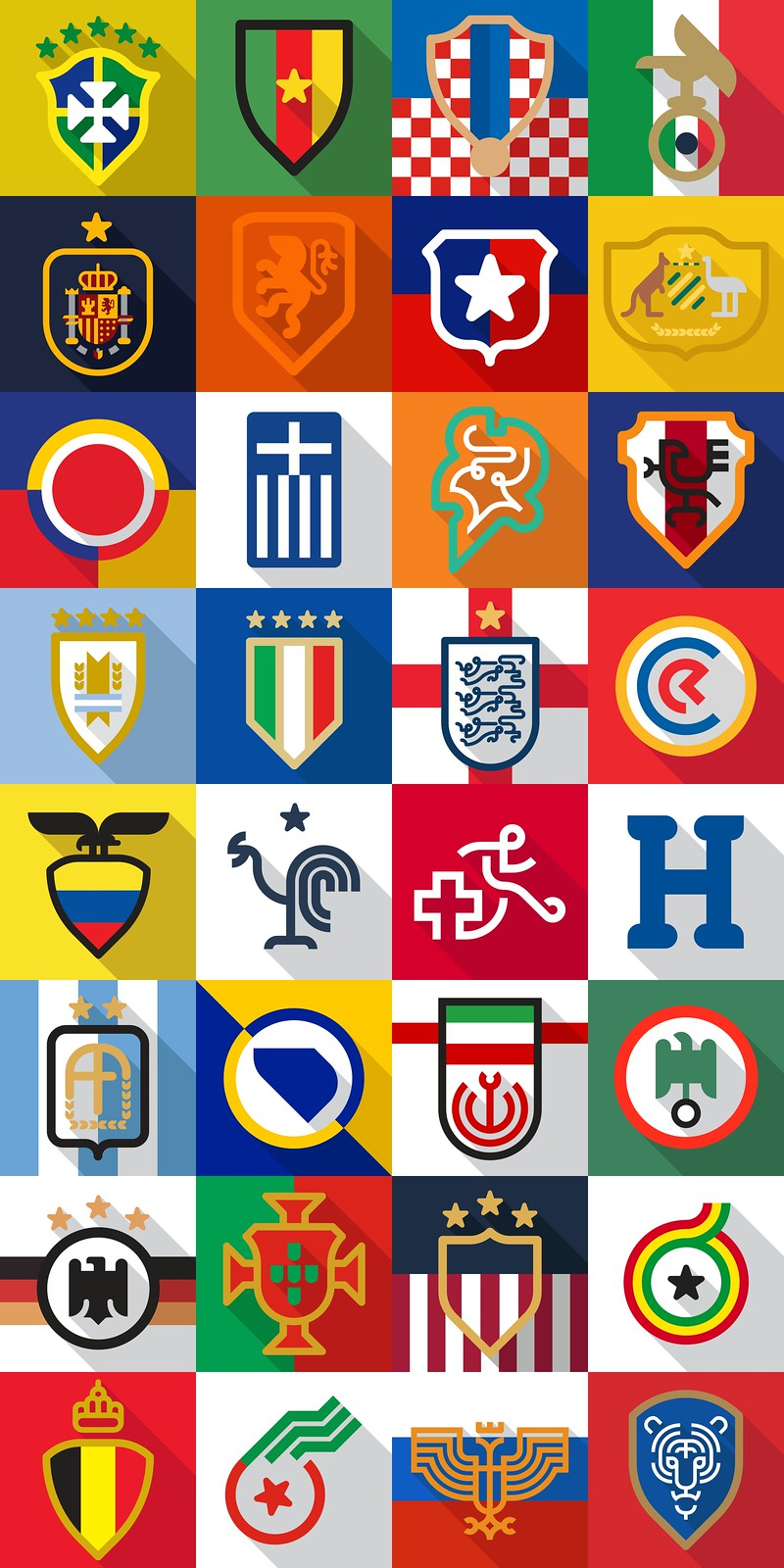 2014 Football World Cup team icons by Daniel Nyari