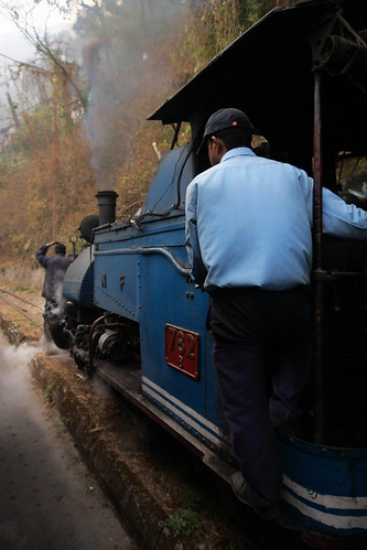 darjeeling himalayan mountain railway steam tour magazine india narrow gauge sharp stewart b class 040 tank saddle well loco locomotive train rail indian steep hill cart road west bengal charter dhr dhmr joy toy forest jungle 782 sun light railroad tree people grass haze mist tindaria works tindharia up photo