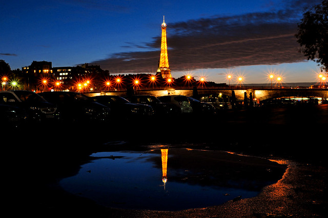 Reflection of the icon of Paris