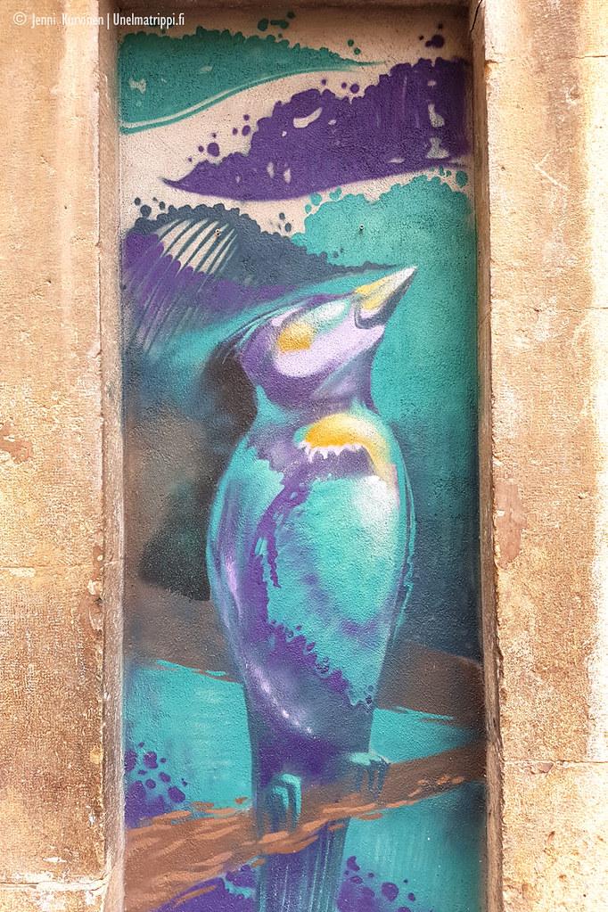 Muraali talon seinässä Tarragonassa