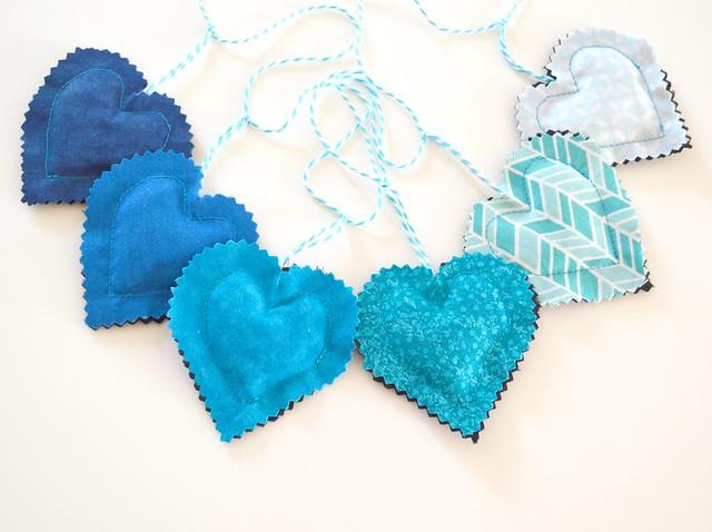Heart Banner Blue HB001b-002b