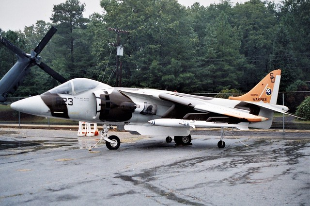 AV-8B Harrier 161396/SD-623 NAWC USMC c/s. Preserved, Patuxent River, Naval Air Test & Evaluation Museum, 26-09-2000.
