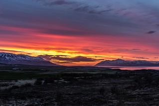 Sunset in Eyjafjordur