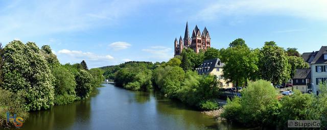 Limburg 100 - Aussicht von der Alten Lahnbrücke auf den Dom