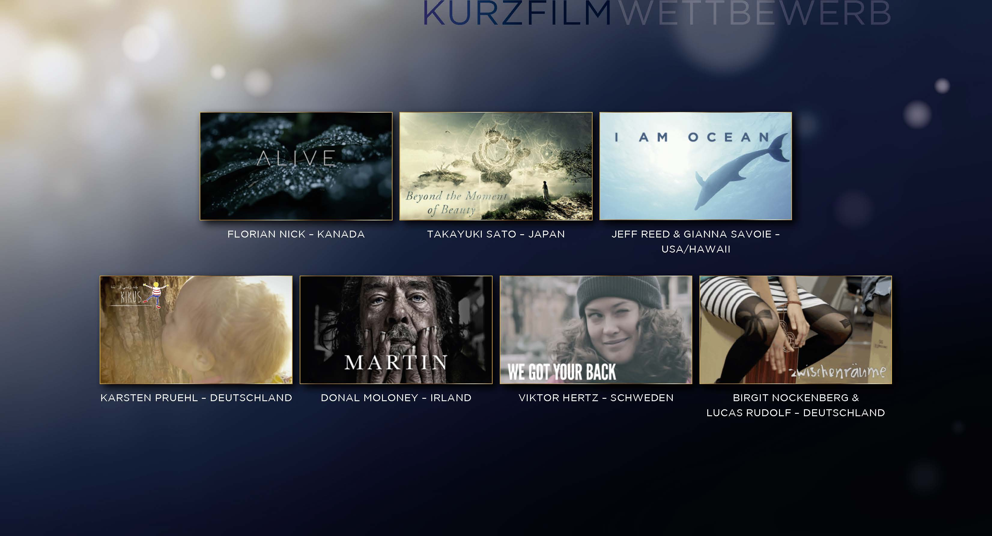 Cosmic Cine - Cosmic Angel Short Film Nominees - Kurzfilm Nominees