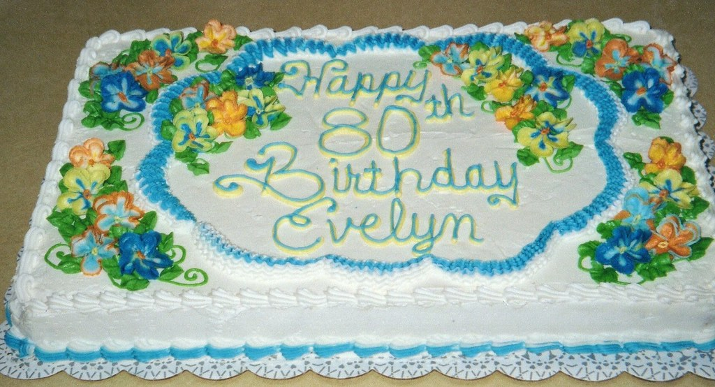 Pleasant Pansies Birthday Cake Birthday Half Sheet Cake Buttercream Flickr Funny Birthday Cards Online Elaedamsfinfo