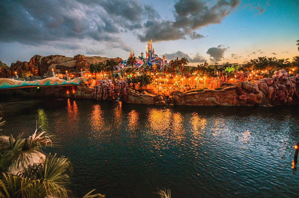 Mermaid lagoon sunset with water TDS
