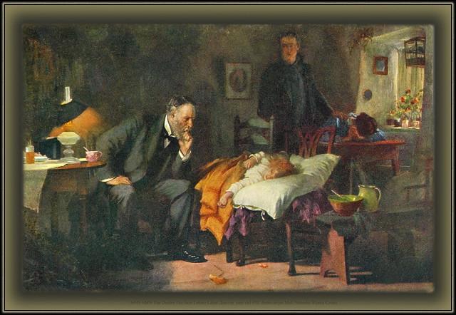 6449 AMN The Doctor Der Arzt Lekarz Lékař Доктор  year ca 1900. Antikvarijat Mali Neboder Rijeka Croatia