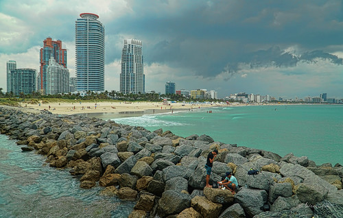 fishermen miamibeach cityscapes seashore breakwater urbanexploration beachscape beachshore building architecture afternoon cloudy outdoors southpoint southbeach clouds walkingaround waterways