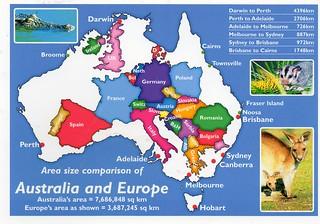 Map Of Australia Over Europe.Au 549087 Map Europe Over Australia Postcrossing Postcar