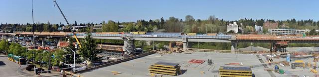 Northgate station construction, April 2018
