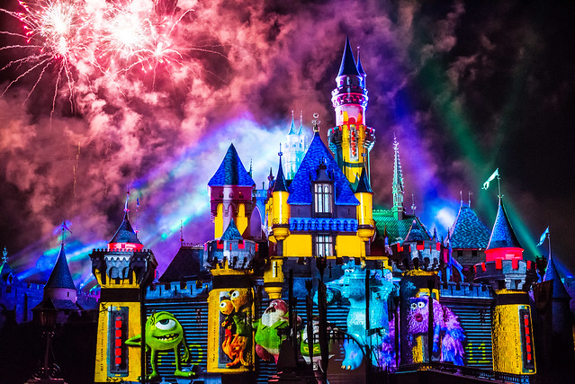 Together Forever — A Pixar Nighttime Spectacular - Disneyland fireworks show - Monsters Inc. projections