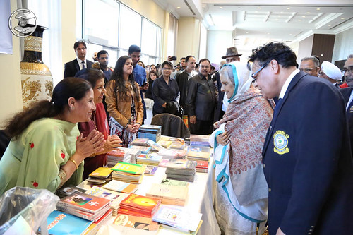 Satguru Mata Ji visits pavilion of Nirankari Publications