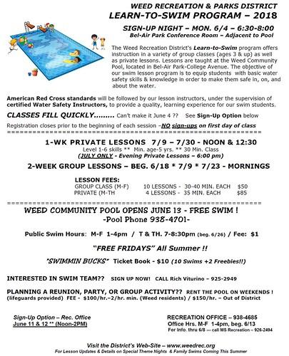 Pool 2018 flyer