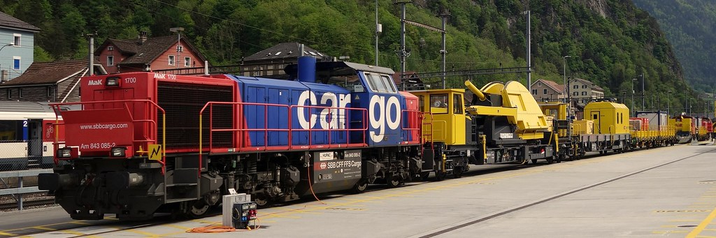 Erhaltungszug (Wartungszug) Gotthard Basis Tunnel