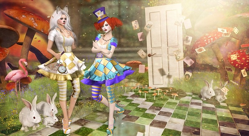 Mad Hatter & White Rabbit.... the door to nowhere
