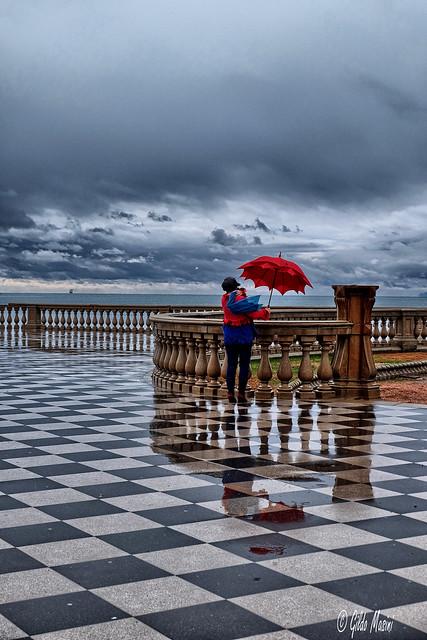 Pioggia in terrazza