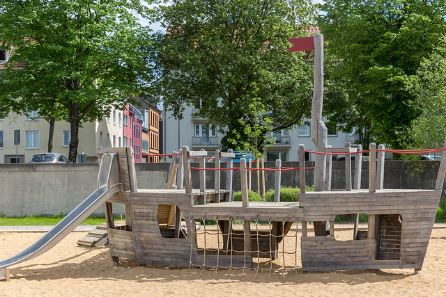 Ship at a children's playground