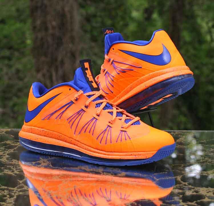 finest selection fde48 390b8 ... Nike Air Max LeBron X Low Bright Citrus Hyper Blue 579765-800 Men s  Size 12