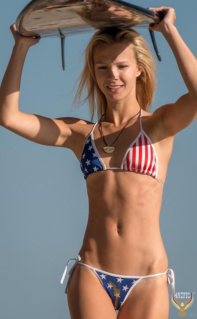 4e6f8411c3855 Beautiful Red, White, & Blue Malibu Swimsuit Bikini Model! American Flag  Bikini!