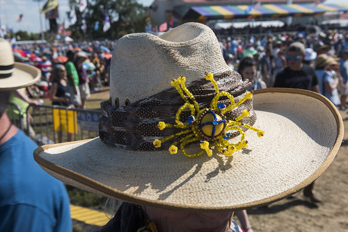 Hat at Jazz Fest Day 7 on May 5, 2018. Photo by Ryan Hodgson-Rigsbee RHRphoto.com