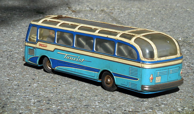 Tippco WEst German tinplate bus from 50+ years ago