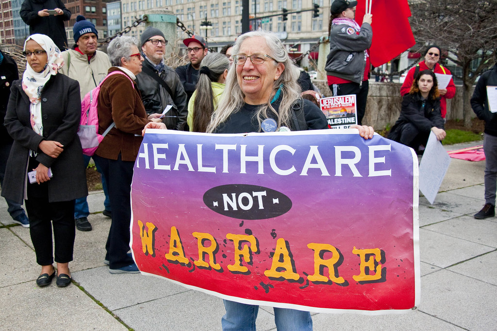 Anti-War Rally Chicago Illinois 4-21-18 0947