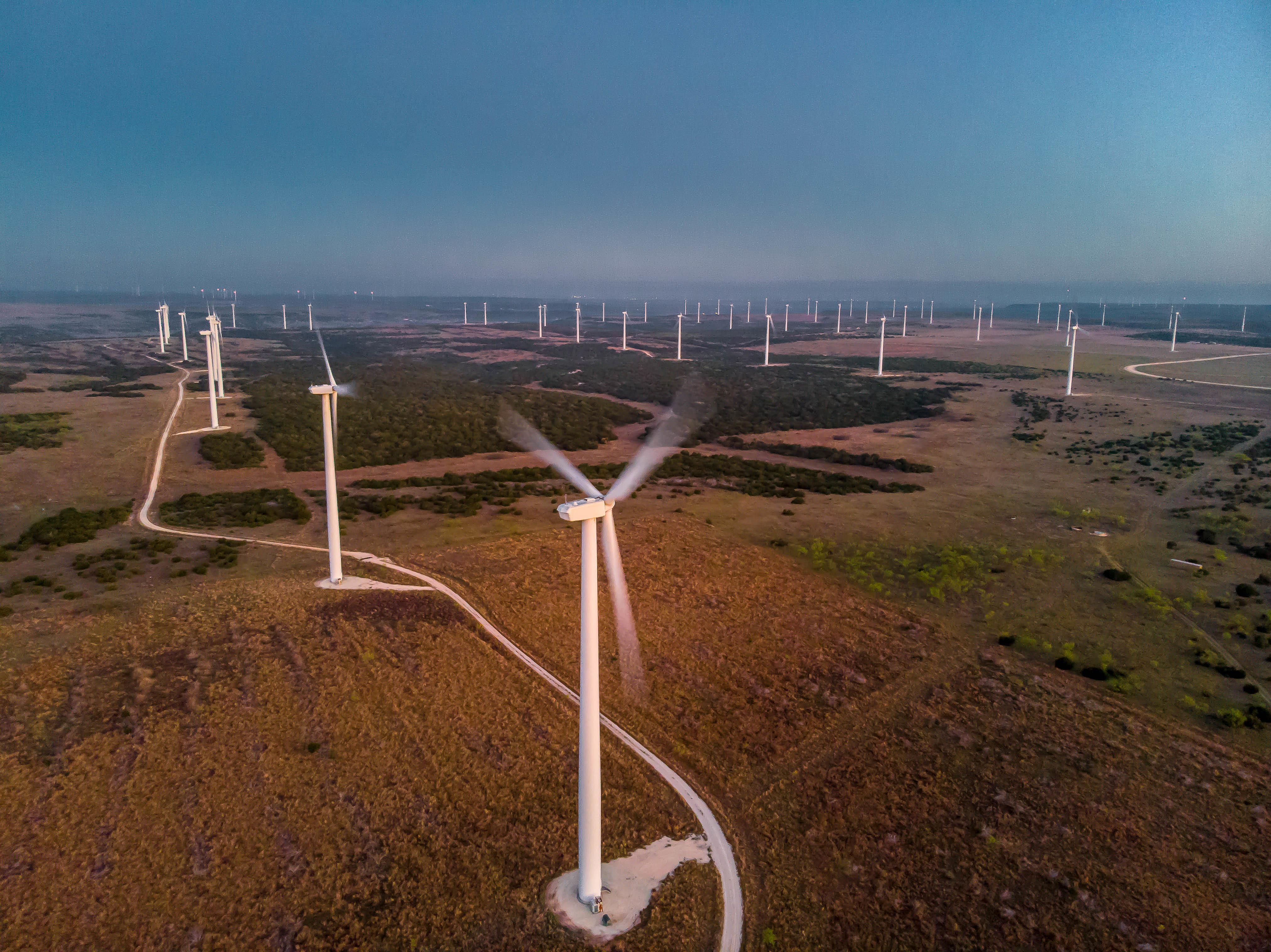 Texas - Wind Farm Sunrise 1