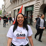 TUC's New Deal demo in central London, Saturday 12 May. GMB activists were marching for an end to zero hours contacts, an end to neglect of our public services and an end to Tory austerity.