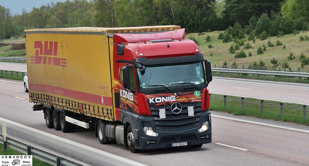 Mercedes (PL556) Konig Freight Logistics - DHL | Tompa