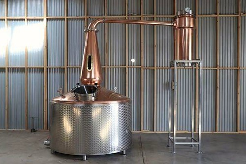2200 litre Copper Still with stainless steel insulated barrel, with 12 x electric elements. Installed by Mark in Adelaide on Christmas Eve 2017. | by burnswelding