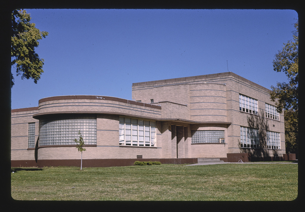 Elementary school, vertical detail, 4th & Court, Clay Center, Kansas (LOC)