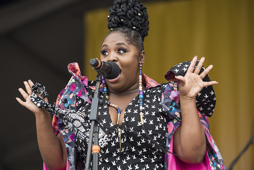 Tank and The Bangas during Jazz Fest day 5 on May 4, 2018. Photo by Ryan Hodgson-Rigsbee RHRphoto.com