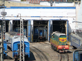RZD ChME3-2667, Yaroslavskoye direction, Moskva-2 EMU depot