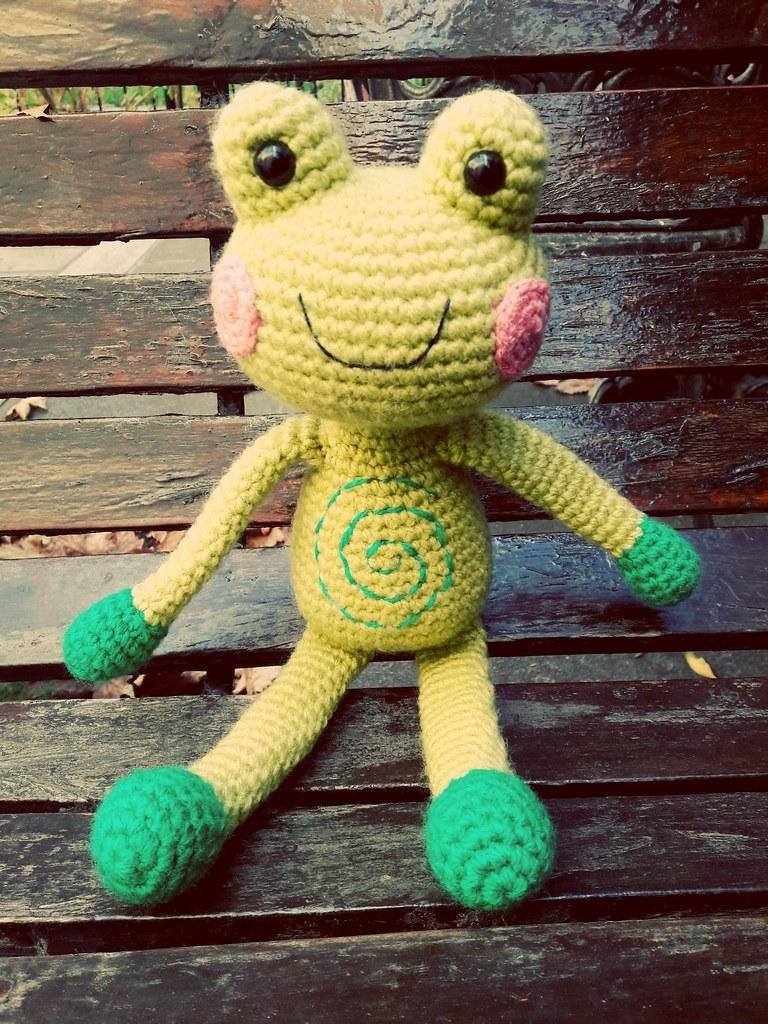 Ranita   Patrón/Pattern: Funny Croc Frog - Amigurumi Today