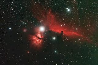 Flame and Horshead Nebula