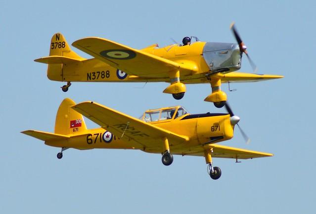 De Havilland Chipmunk T10 & Miles Magister N3788 G-AKPF