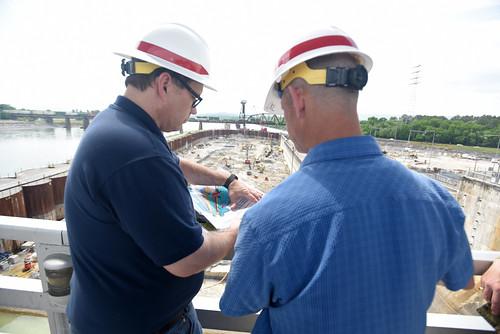 Coast Guard admiral tours Chickamauga Lock   by NashvilleCorps