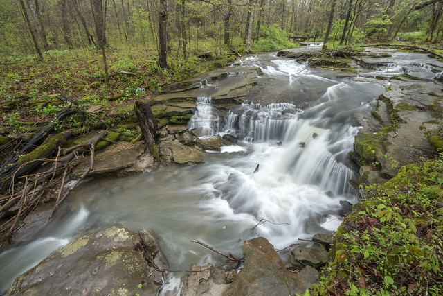 Minor cascade, unnamed creek, Putnam County, Tennessee