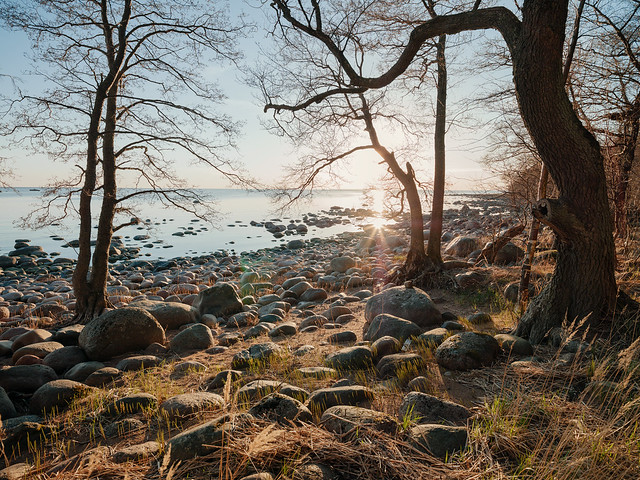Sunset over Gulf of Finland