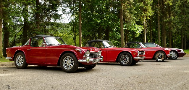 Triumph TR ladybower res vintage cars derbyshire peak district
