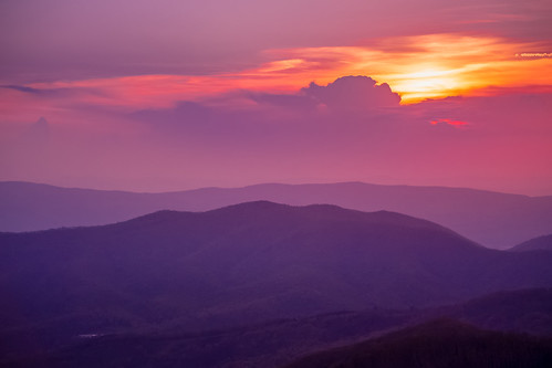 sunset valley mountains virginia clouds