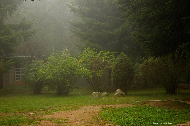 2513  Sta. Fe del Montseny con niebla, Barcelona