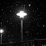Streetlights in a Snowstorm