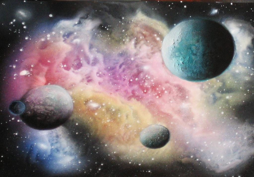 Galaxy 3 Spray Paint Art Learn How To Spray Paint Or Air