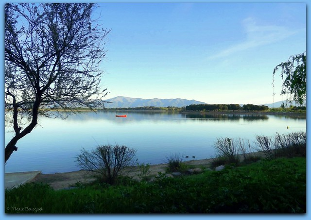 Bientôt la nuit sur le lac de Villeneuve-de-la-Raho