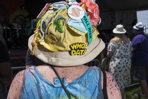 Hat at Jazz Fest day 2 on April 28, 2018. Photo by Ryan Hodgson-Rigsbee